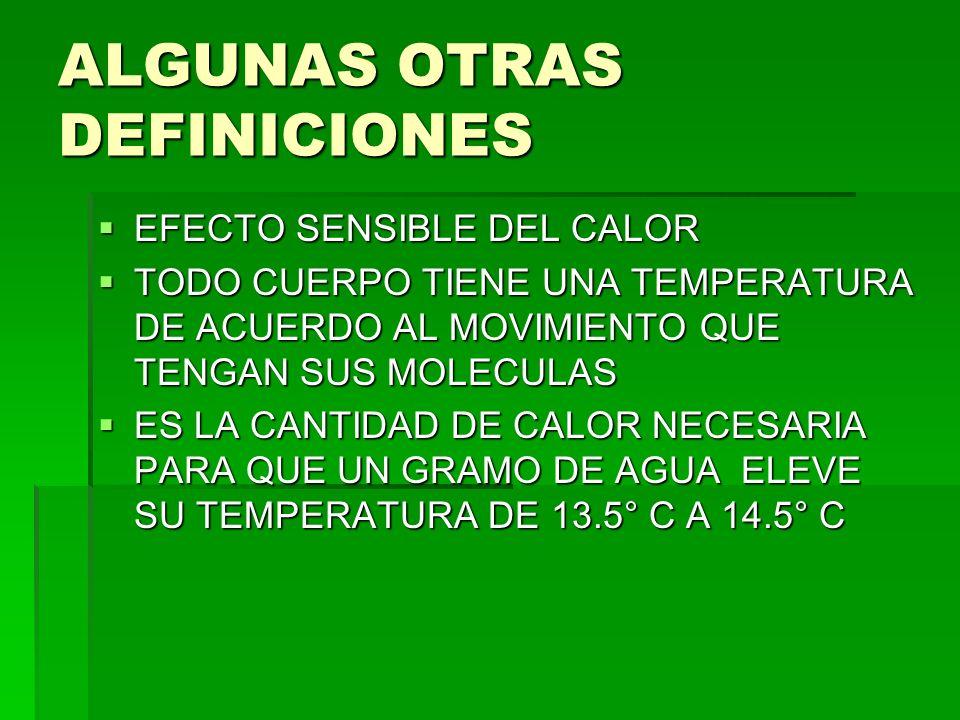 ESCALAS TERMOMETRICAS Comparación de las tres diferentes escalas de temperatura