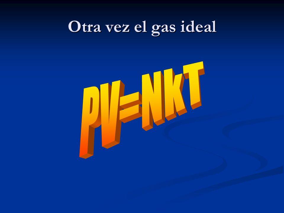 Otra vez el gas ideal