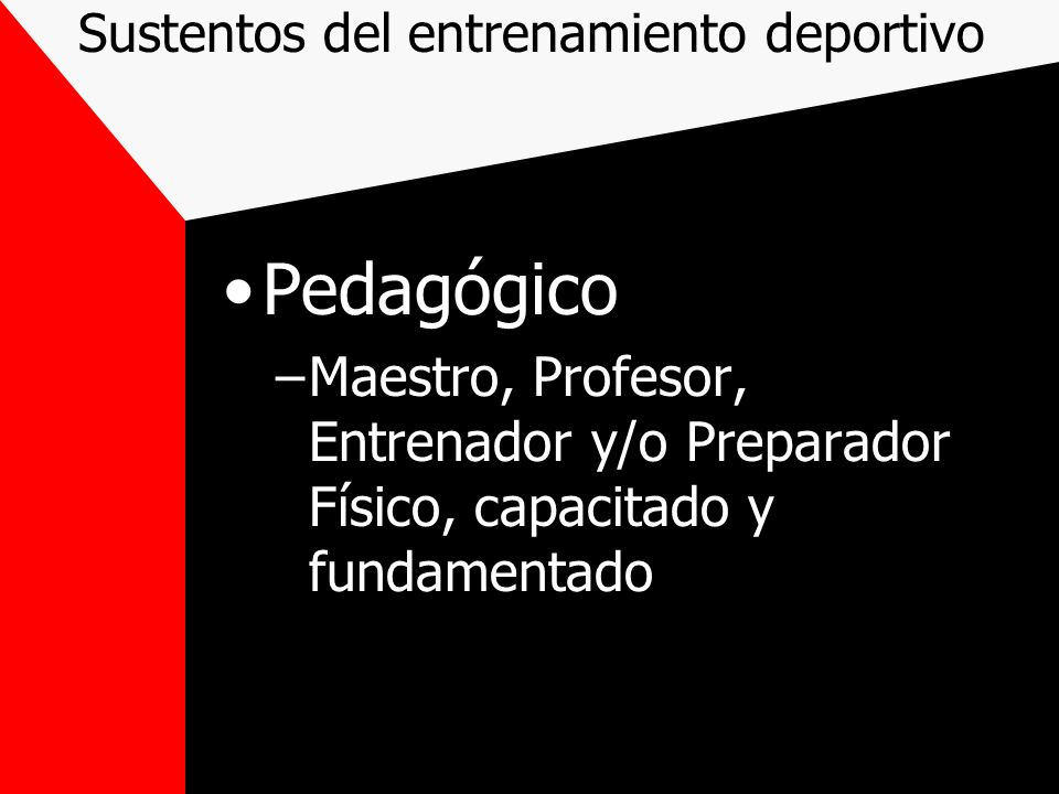 Objetivo Lograr el máximo rendimiento individual y colectivo en el deporte elegido.