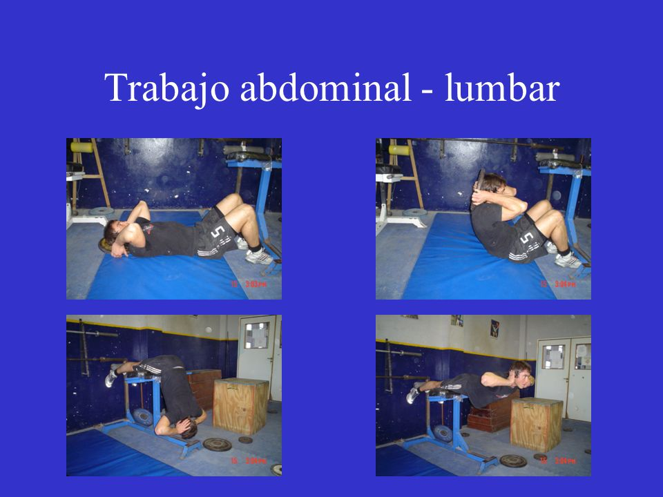 Trabajo abdominal - lumbar