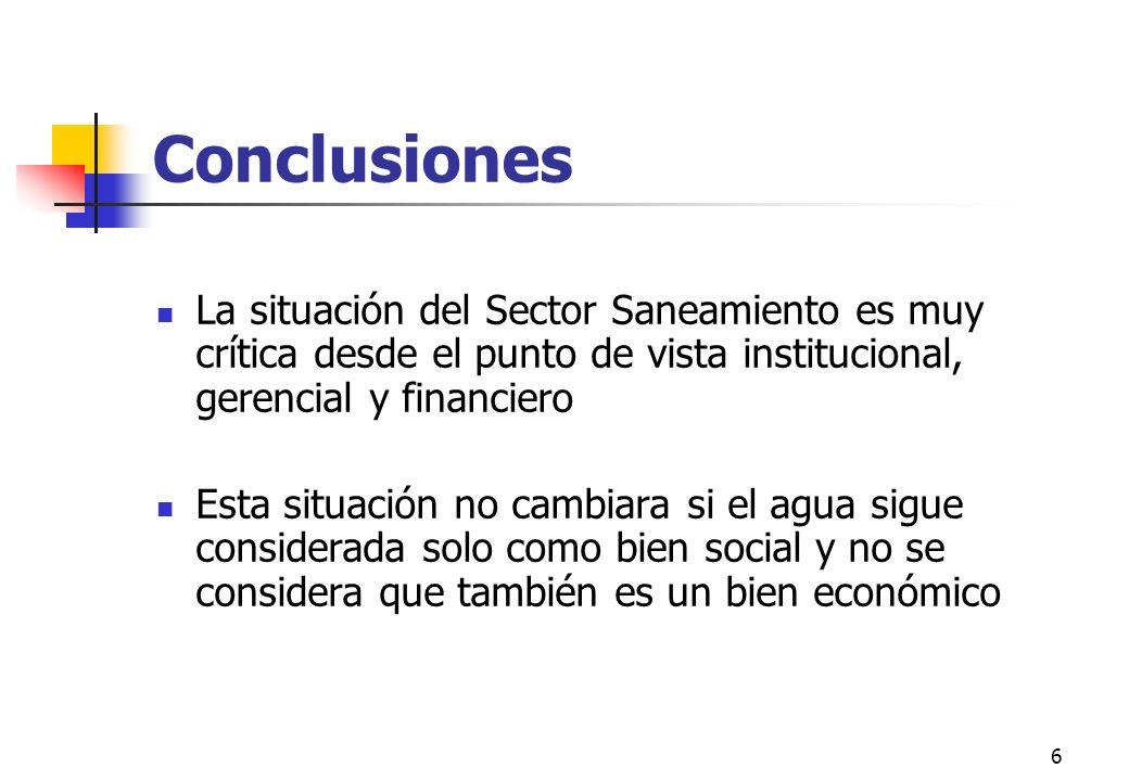 7 Política y Objetivos de Desarrollo 2002-2006 INCREMENTAR LA SOSTENIBILIDAD DE LOS SISTEMAS MEJORAR LA CALIDAD DE LOS SERVICIOS LOGRAR LA VIABILIDAD FINANCIERA DE PRESTADORES DE SERVICIO INCREMENTAR EL ACCESO A SERVICIOS DE SANEAMIENTO