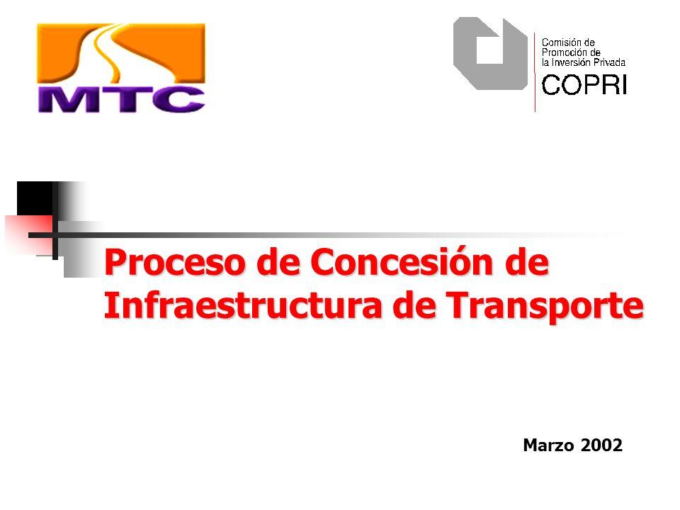 Proceso de Concesión de Infraestructura de Transporte Marzo 2002