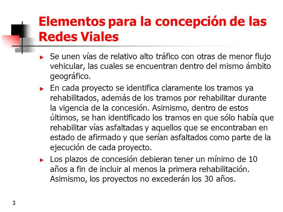 3 Elementos para la concepción de las Redes Viales Se unen vías de relativo alto tráfico con otras de menor flujo vehicular, las cuales se encuentran