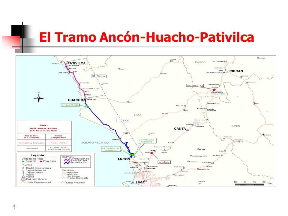5 Proyectos contemplados dentro la concesión Primera Etapa Construcción evitamientos Huacho-Primavera (Tramo 1, calzada oeste) y Dv.