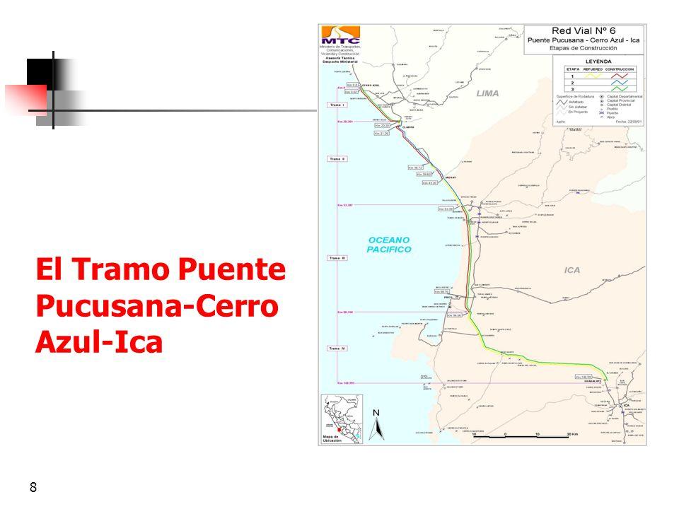 9 Descripción del proyecto Primera etapa (primer y segundo año) Construcción de la calzada derecha de la autopista desde Cerro Azul (Km.