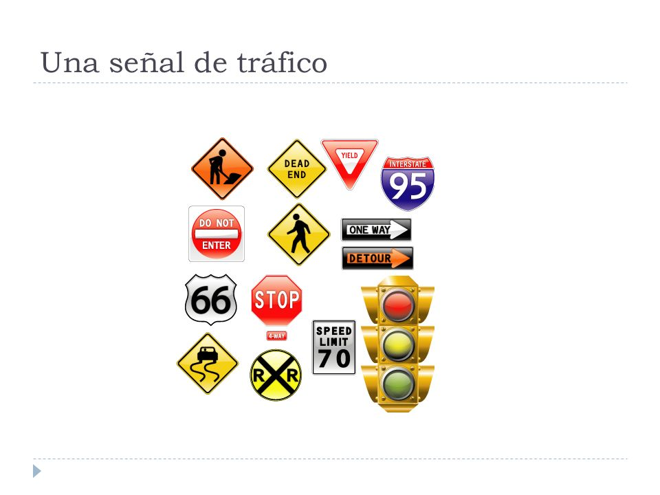 Una señal de tráfico
