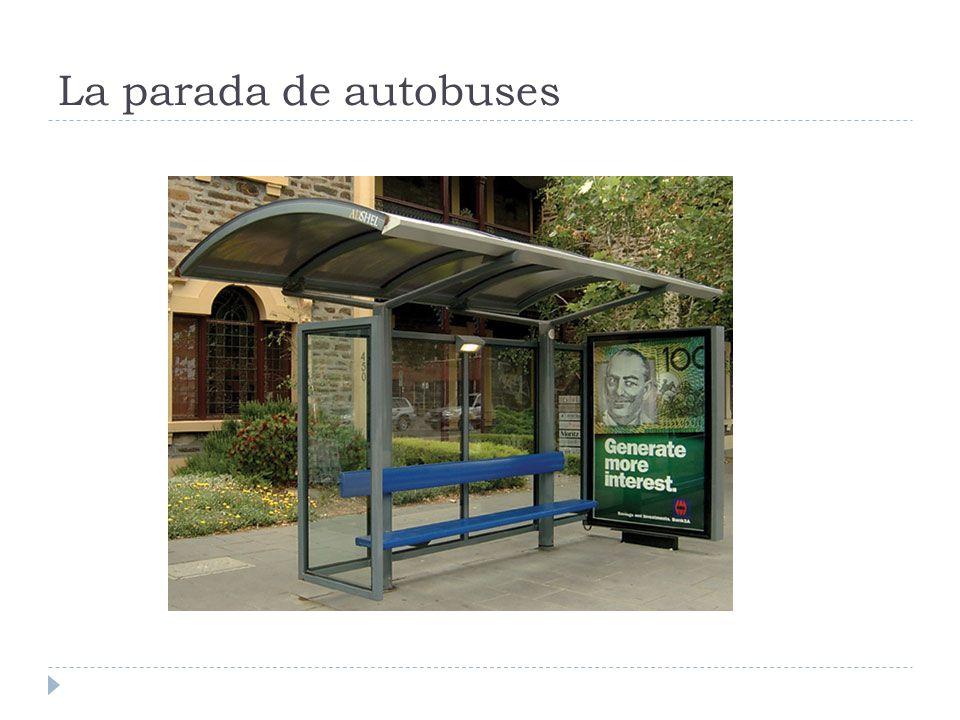 La parada de autobuses