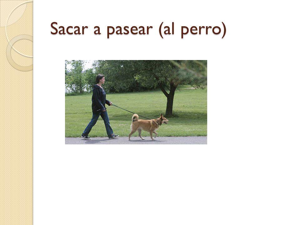 Sacar a pasear (al perro)