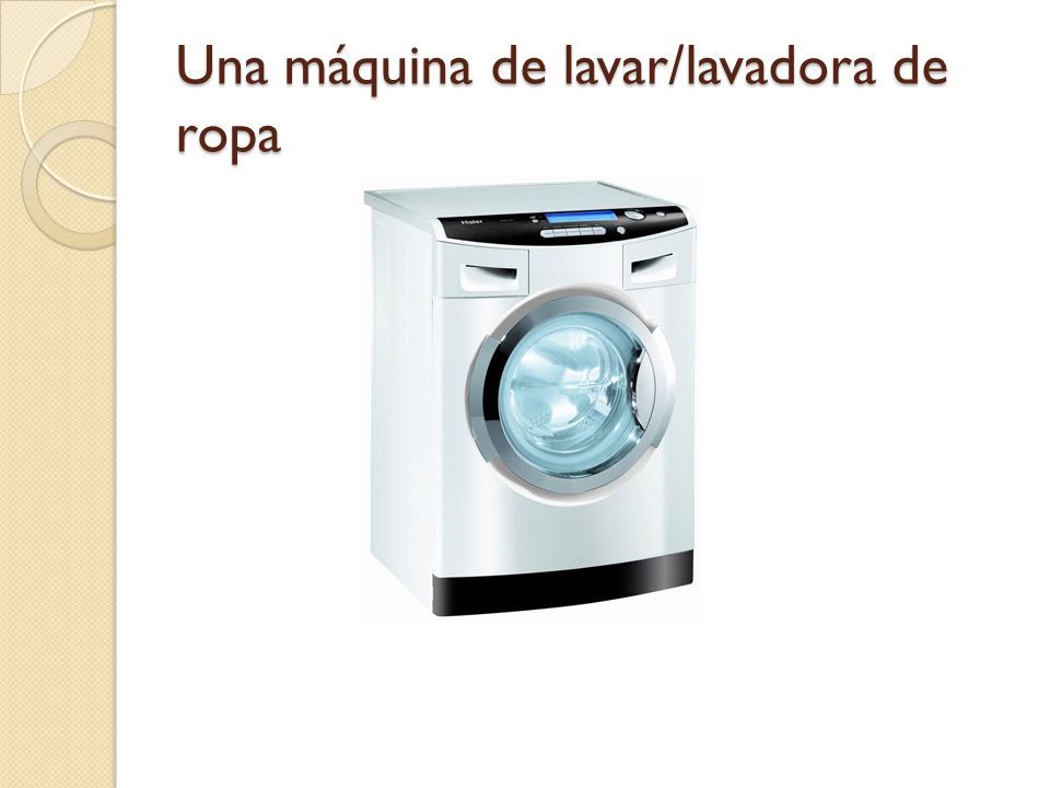 Una máquina de lavar/lavadora de ropa