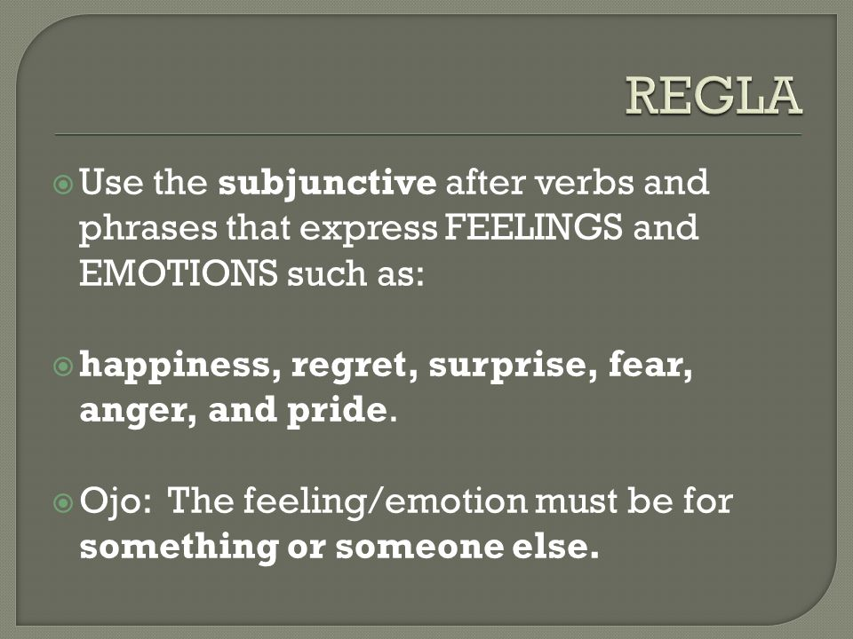 When the feeling or emotion concerns the action of the subject itself, use the infinitive.