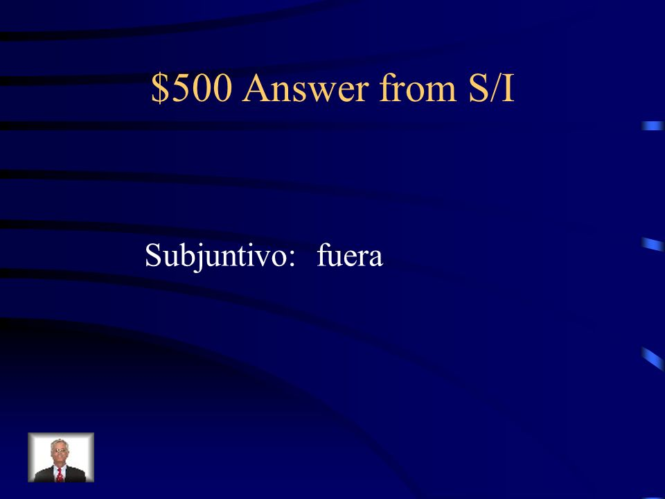 $500 Question from S/I No quería nadie que (ser) presumida.