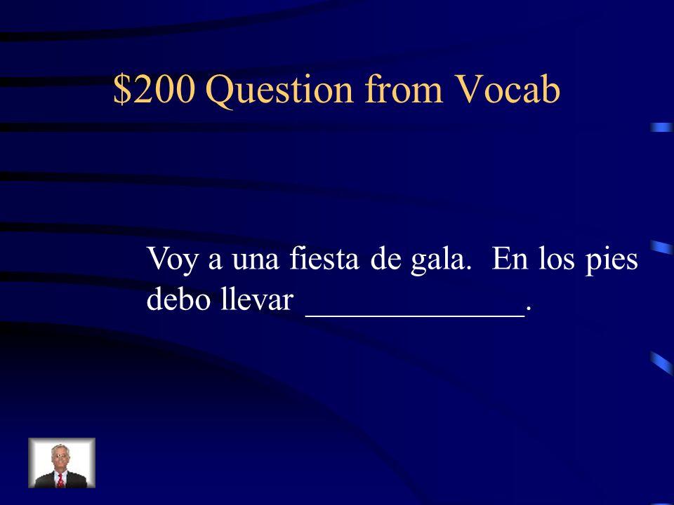 $200 Question from S/I Era dudoso que los estudiantes me (respetar).