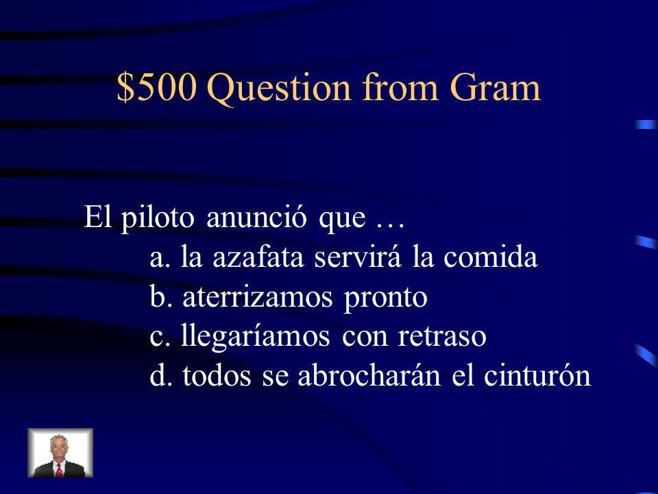 $400 Answer from Gram d. pueda archivar (unknown)