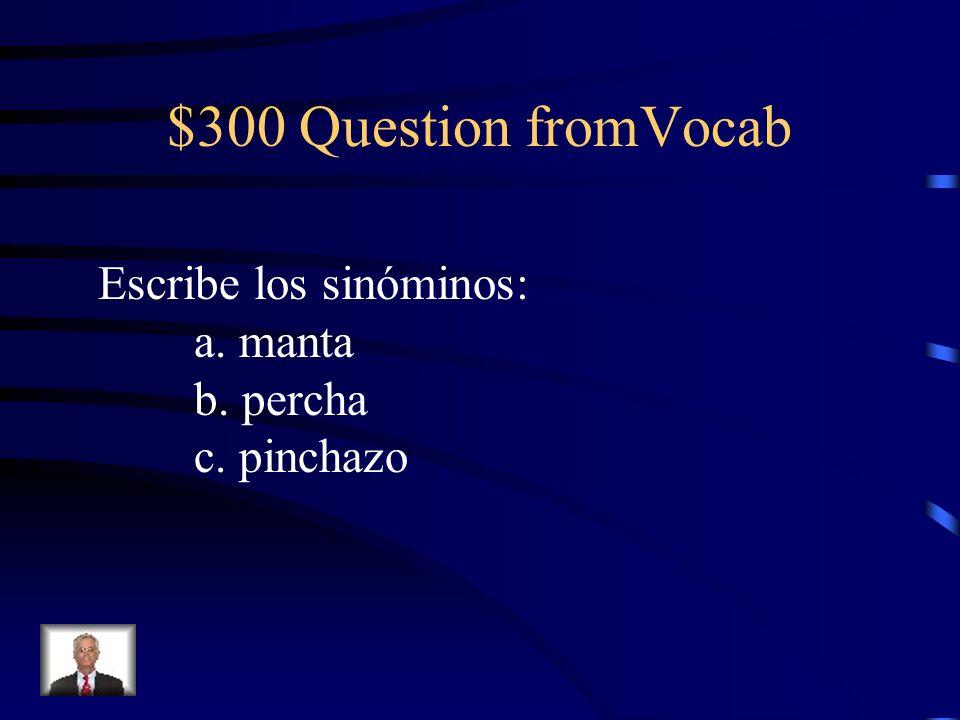 $300 Question from Intruso Iremos al parque ______ haga buen tiempo.