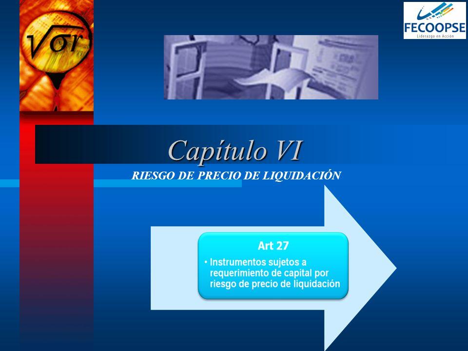 RIESGO DE PRECIO DE LIQUIDACIÓN Capítulo VI