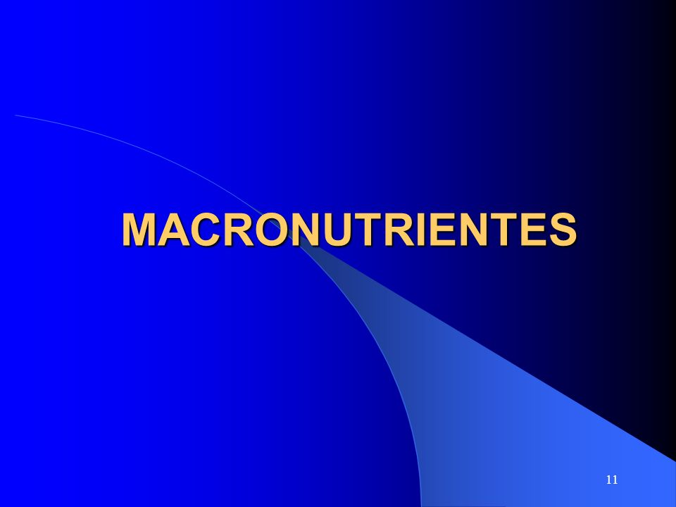 11 MACRONUTRIENTES