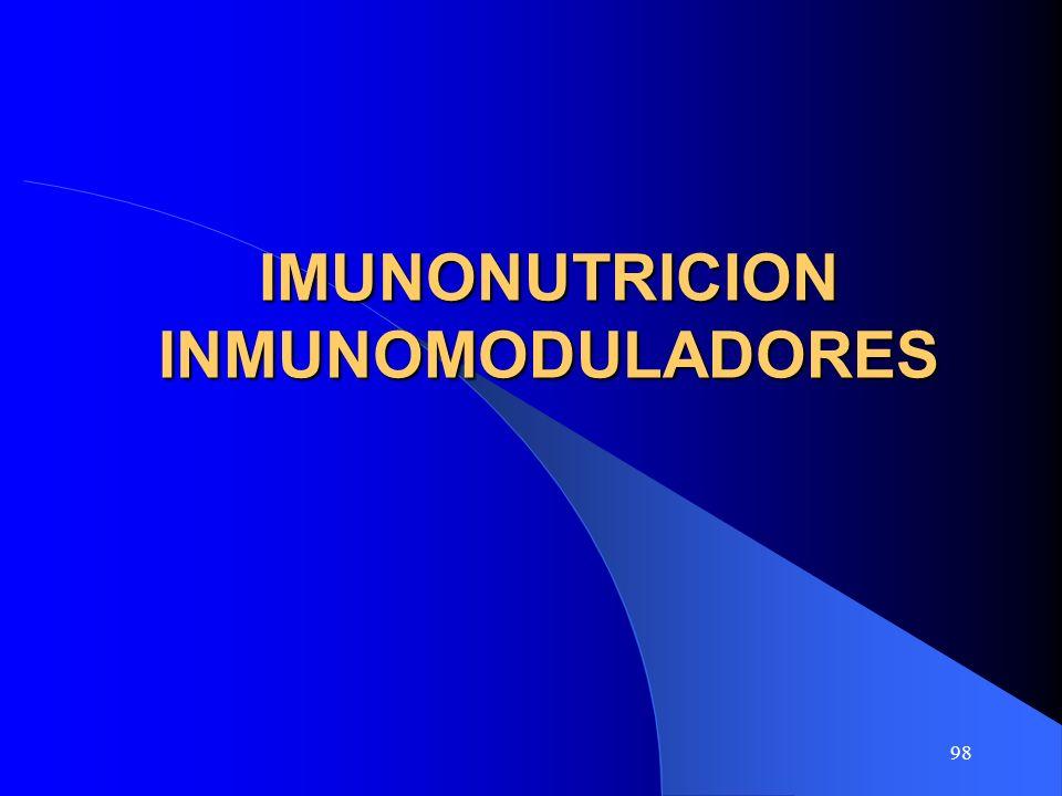 98 IMUNONUTRICION INMUNOMODULADORES