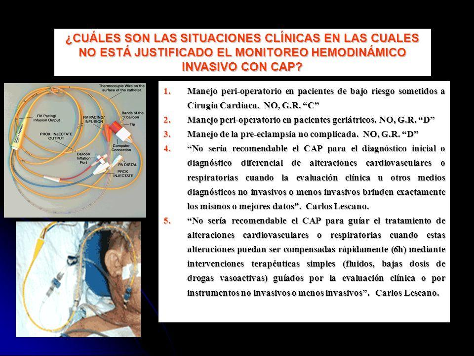 1.Manejo peri-operatorio en pacientes de bajo riesgo sometidos a Cirugía Cardíaca. NO, G.R. C 2.Manejo peri-operatorio en pacientes geriátricos. NO, G