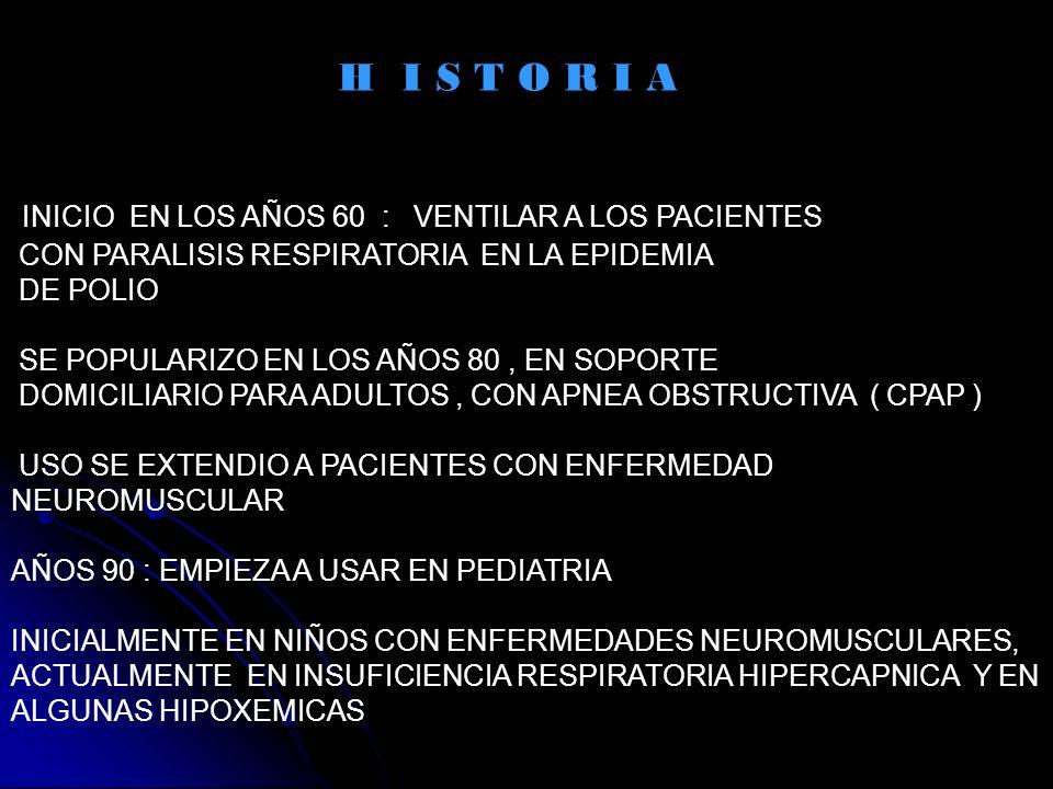 CONTRAINDICACIONES AUSENCIA DE ESTIMULO RESPIRATORIO AUSENCIA DE REFLEJO DE TOS SECRECIONES RESPIRATORIAS ABUNDANTES NEUMOPATIA BULOSA NEUMOTORAX INESTABILIDAD HEMODINAMICA ANSIEDAD O FALTA DE COLABORACION DEL PACIENTE INFECCION SINUSAL, OTICA HEMORRAGIA DIGESTIVA ALTA, VOMITOS, DISTENSION ABDOMINAL CIRUGIA DE CARA, TEC, CIRUGIA DE SENOS PARANASALES