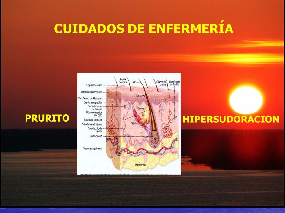 PRURITO HIPERSUDORACION CUIDADOS DE ENFERMERÍA