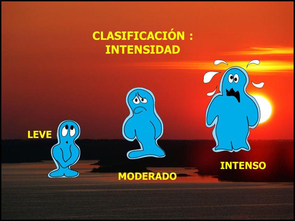 CLASIFICACIÓN : INTENSIDAD LEVE MODERADO INTENSO