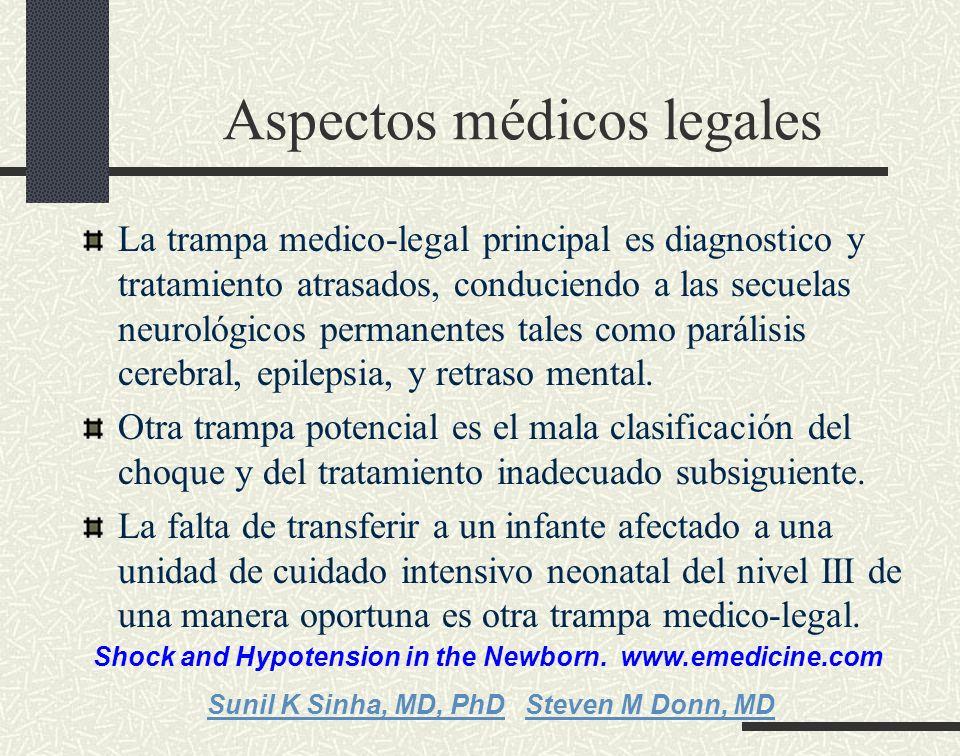 Aspectos médicos legales La trampa medico-legal principal es diagnostico y tratamiento atrasados, conduciendo a las secuelas neurológicos permanentes