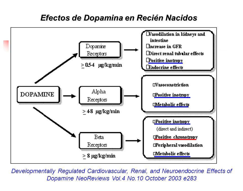Efectos de Dopamina en Recién Nacidos Developmentally Regulated Cardiovascular, Renal, and Neuroendocrine Effects of Dopamine NeoReviews Vol.4 No.10 O