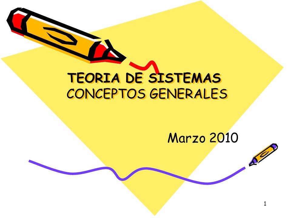 1 TEORIA DE SISTEMAS CONCEPTOS GENERALES Marzo 2010
