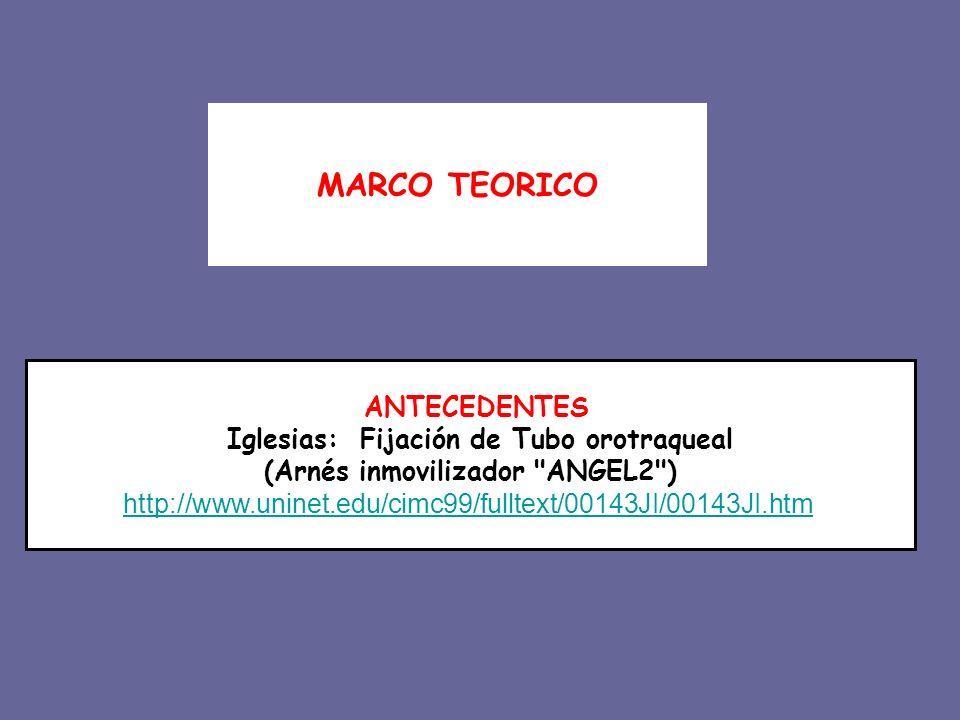 ANTECEDENTES Iglesias: Fijación de Tubo orotraqueal (Arnés inmovilizador