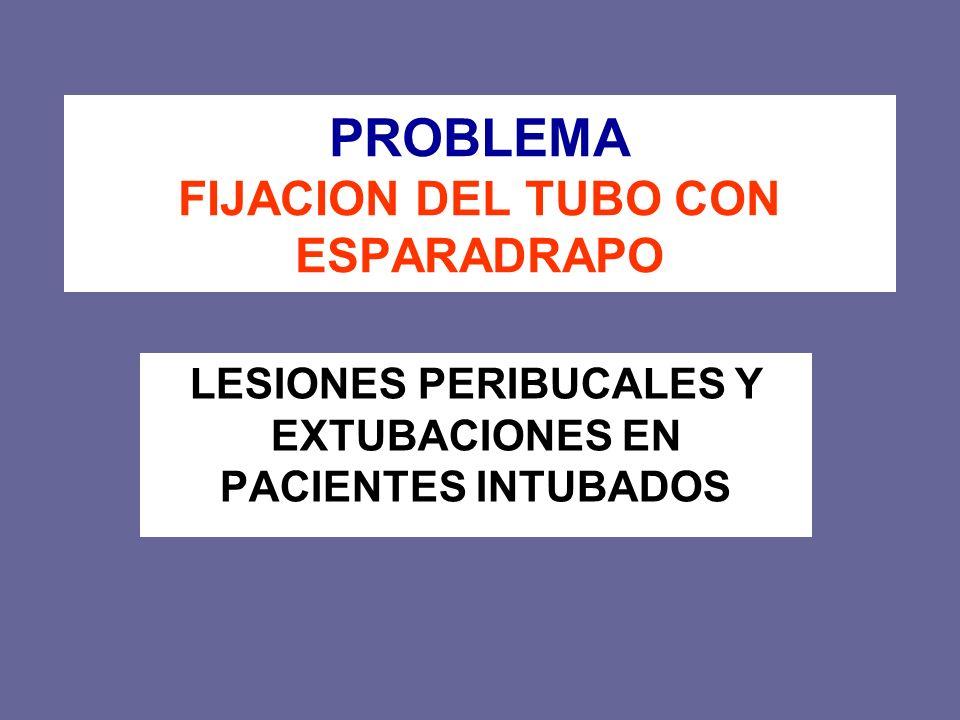 PROBLEMA FIJACION DEL TUBO CON ESPARADRAPO LESIONES PERIBUCALES Y EXTUBACIONES EN PACIENTES INTUBADOS
