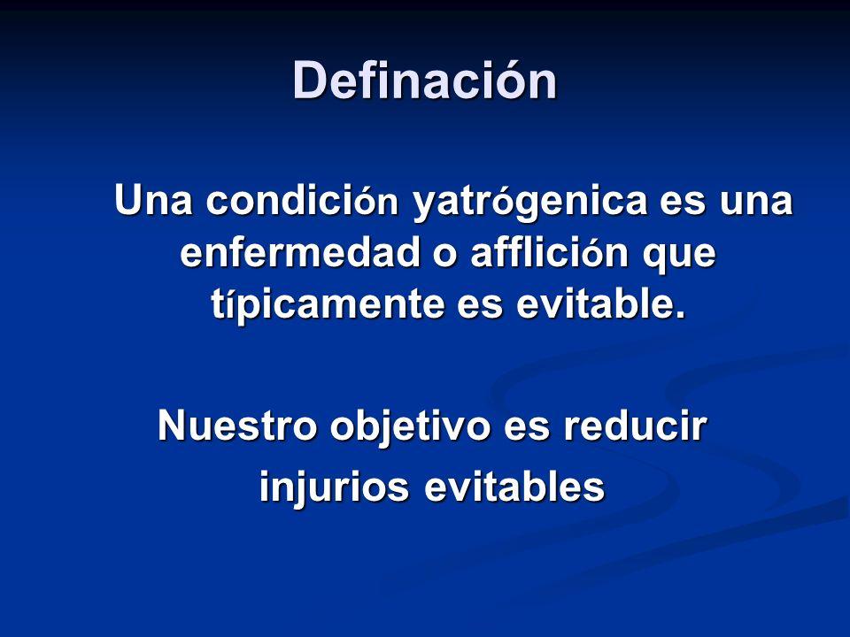 Definación Una condici ón yatr ó genica es una enfermedad o afflici ó n que t í picamente es evitable.