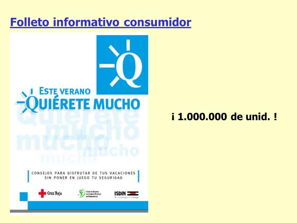 Folleto informativo consumidor ¡ 1.000.000 de unid. !