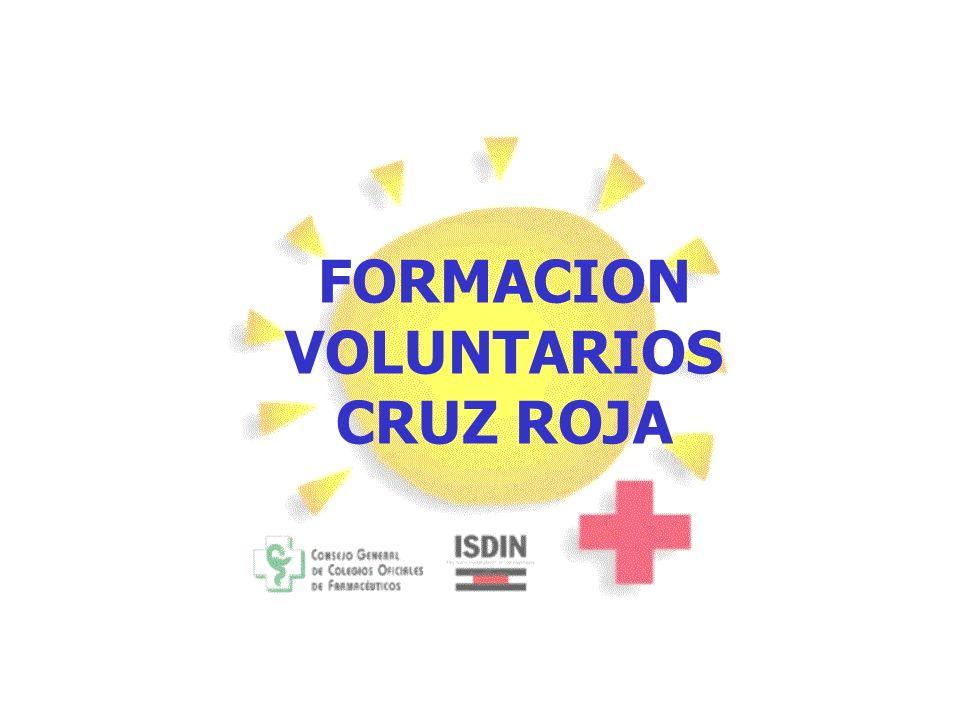 FORMACION VOLUNTARIOS CRUZ ROJA