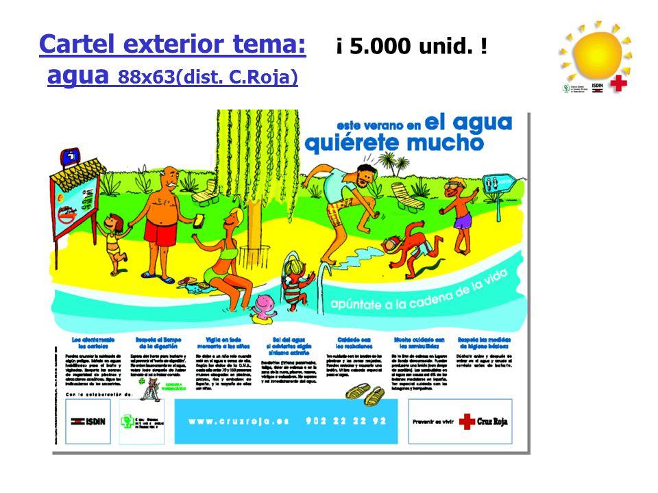 Cartel exterior tema: agua 88x63(dist. C.Roja) ¡ 5.000 unid. !