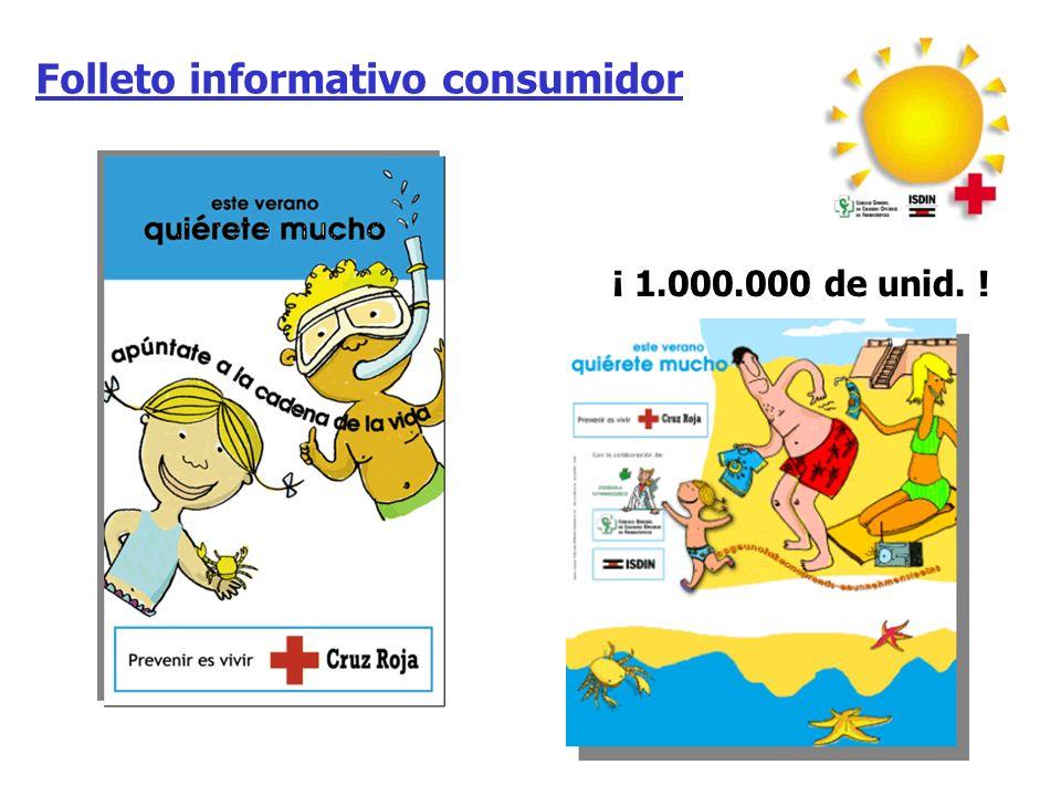 Folleto informativo Cruz Roja ¡ 140.000 unid. !