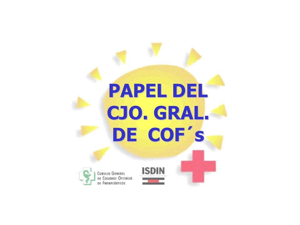 PAPEL DEL CJO. GRAL. DE COF´s