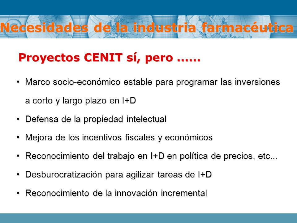 Marco socio-económico estable para programar las inversiones a corto y largo plazo en I+DMarco socio-económico estable para programar las inversiones