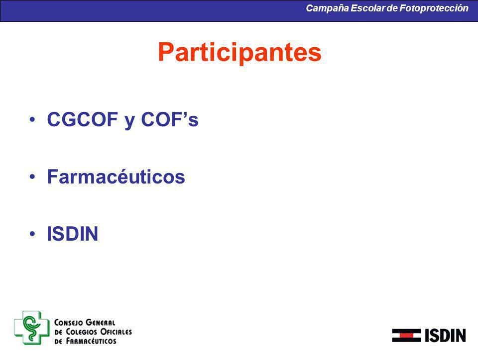 Participantes CGCOF y COFs Farmacéuticos ISDIN Campaña Escolar de Fotoprotección