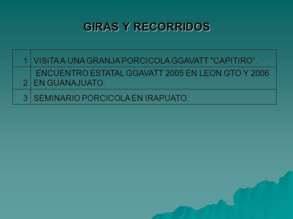 GIRAS Y RECORRIDOS 1VISITA A UNA GRANJA PORCICOLA GGAVATT