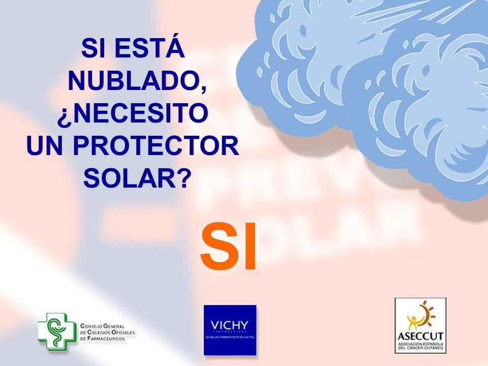 SI ESTÁ NUBLADO, ¿NECESITO UN PROTECTOR SOLAR? SI