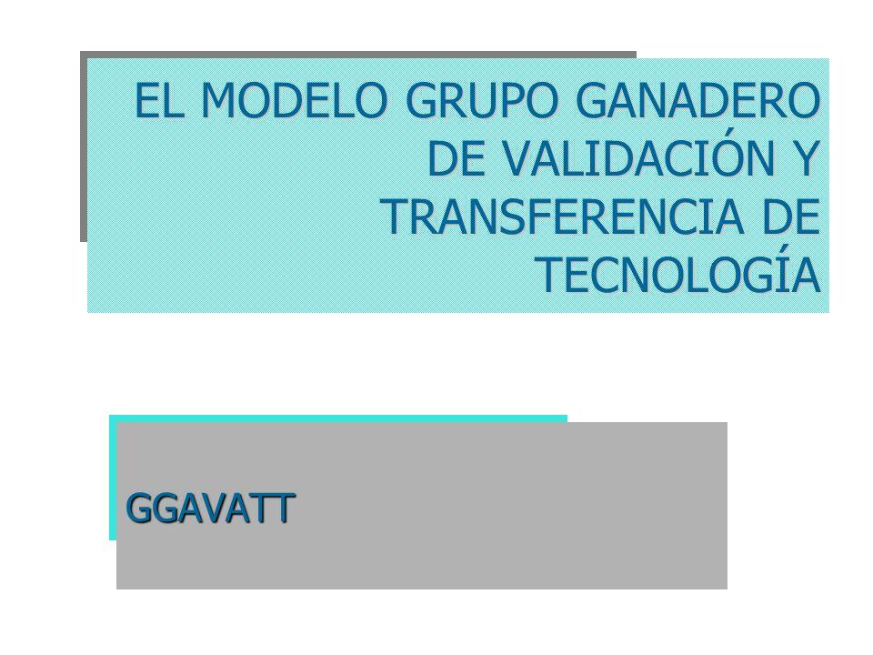 EL MODELO GRUPO GANADERO DE VALIDACIÓN Y TRANSFERENCIA DE TECNOLOGÍA GGAVATT