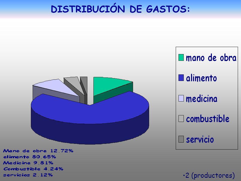DISTRIBUCIÓN DE GASTOS: 2 (productores)