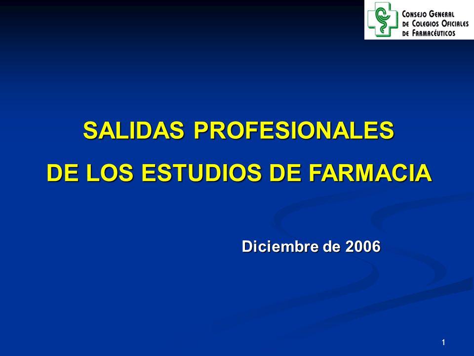 2 La Profesión Farmacéutica en España tiene una larga tradición y un gran prestigio, que le hace ser merecedora del RECONOCIMIENTO de la sociedad y de las autoridades sanitarias españolas 59.251 farmacéuticos que ejercen en más de 30 salidas profesionales La Oficina de Farmacia, con 38.311 farmacéuticos, es la actividad que absorbe a un mayor número de profesionales