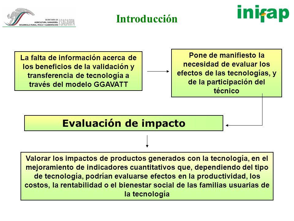 Introducción Valorar los impactos de productos generados con la tecnología, en el mejoramiento de indicadores cuantitativos que, dependiendo del tipo