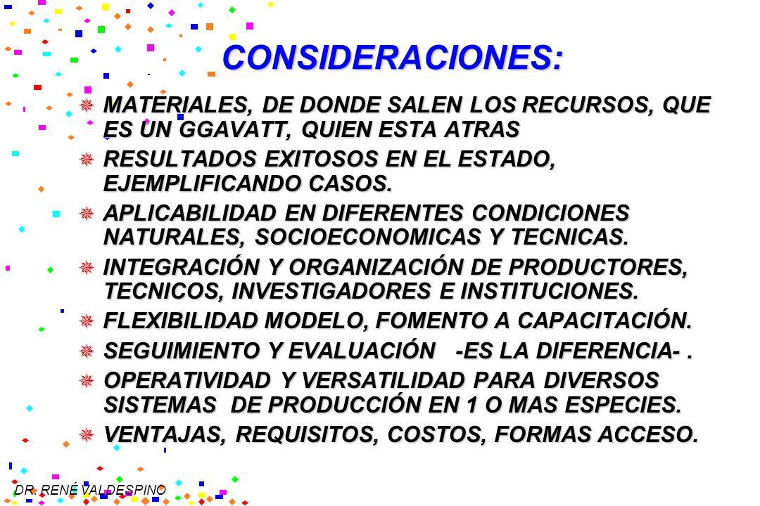 DR. RENÉ VALDESPINO CONSIDERACIONES: MATERIALES, DE DONDE SALEN LOS RECURSOS, QUE ES UN GGAVATT, QUIEN ESTA ATRAS MATERIALES, DE DONDE SALEN LOS RECUR