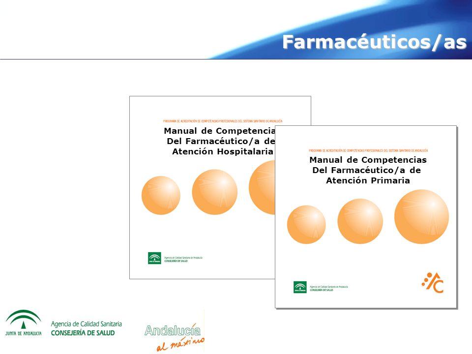 Integral Manual de Competencias Del Farmacéutico/a de Atención Hospitalaria Manual de Competencias Del Farmacéutico/a de Atención Primaria Farmacéutic