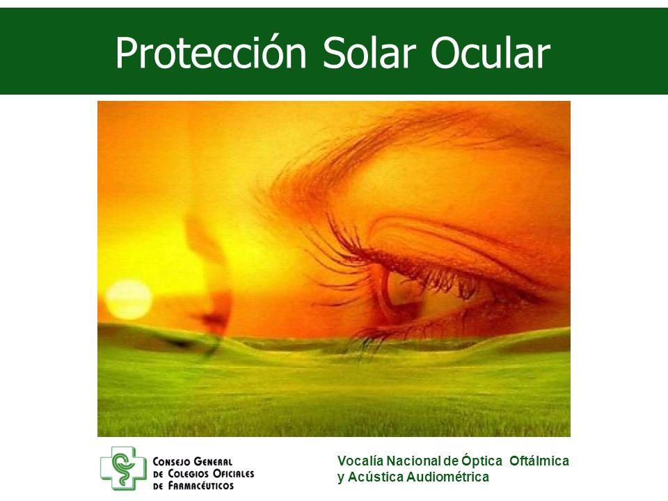 Vocalía Nacional de Óptica Oftálmica y Acústica Audiométrica Casos que exigen una mayor protección Degeneración Macular Asociada a la Edad.