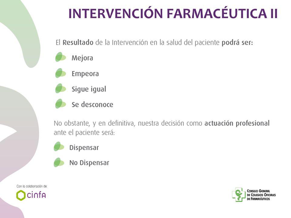INTERVENCIÓN FARMACÉUTICA II