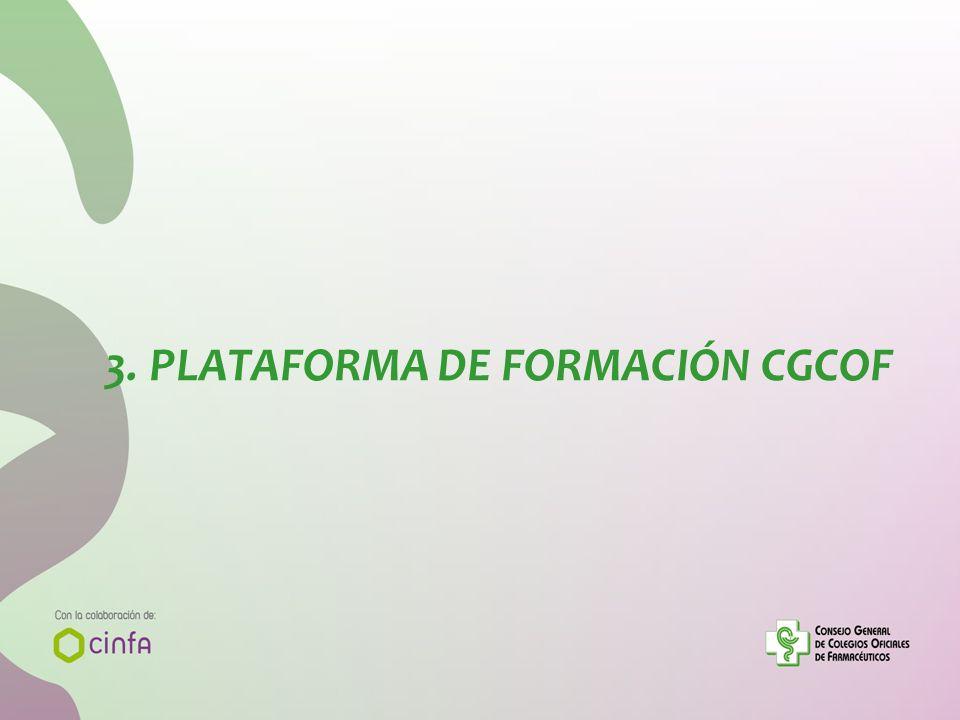 3. PLATAFORMA DE FORMACIÓN CGCOF