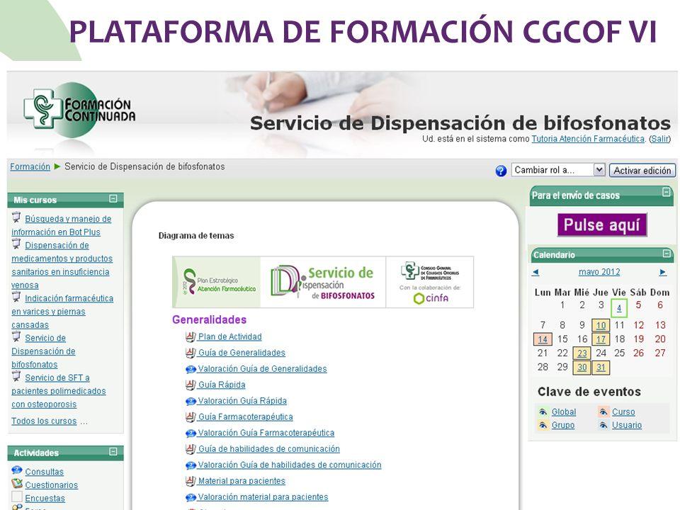 PLATAFORMA DE FORMACIÓN CGCOF VI
